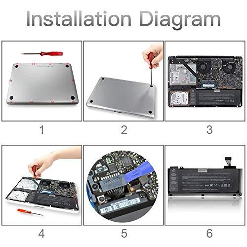 GDORUN A1322 Laptop Akku für MacBook Pro A1278 (Mid 2009 Mid 2010 Early 2011 Late 2011 Mid 2012) 661-5229 661-5557 020-6547-A 020-6765-A A1322 A1278 63.5Wh 6000mAh