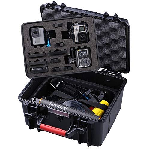 Smatree GA700-3 Étui de Transport pour GoPro Hero8/7/6/5/4/3+/3/2/1,Gopro Hero 2018,Osmo Action (Appareils Photo et Accessoires Non Inclus)