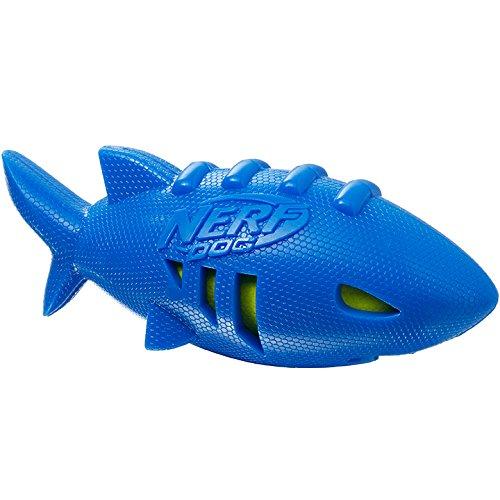 Nerf Dog VP6887E Super Soaker Hai-Football, blau, 17.8 cm