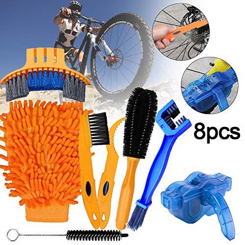 Fahrrad Reiniger Werkzeug-Set, 8 Pc-Fahrrad-Ketten-reinigungs-Werkzeug-kit Für Fahrrad-Ketten, Reifen, Ritzel, Kurbel, Corner Stain Reinigung