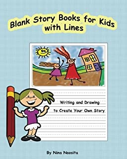 Blank Story Books for Kids with Lines: Writing and Drawing to Create Your Own Story