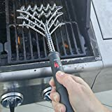 Kona Safe/Clean Grill Brush - Bristle Free BBQ Grill Brush - 100% Rust Resistant Stainless Steel Barbecue Cleaner - Safe For Porcelain, Ceramic, Steel, Cast Iron - Great Grilling Accessories Gift