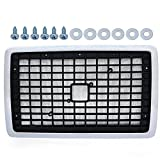 Front Hood Radiator Grill With Bug Screen Replacement For Volvo VNL 2004-2015 Chrome Truck Triple Plated
