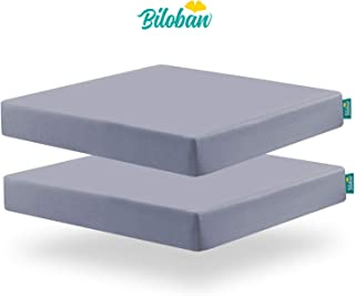 Square Playard/Playpen Fitted Sheets, Perfect for 36 X 36 Portable Playard, 2 Pack, Ultra Soft Microfiber, Fitted Playpen Sheet, Grey.