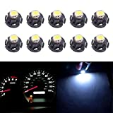 shunyang 10x White T3 Neo Wedge Led SMD Chip 8mm Base Led Car Dash Instrument Clock Light Check Engine Transmission AC Heater Climate Control Bulb Lamps Radio Switch Indication Bulb Replacement