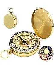 WELLXUNK kompas, navigatie-kompas, draagbaar waterdicht kompas met lichtgevende cijfers, voor kamperen, wandelen en ander kompas outdoor