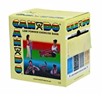CanDo? Low Powder Exercise Band - 50 yard roll - Tan - xx-light