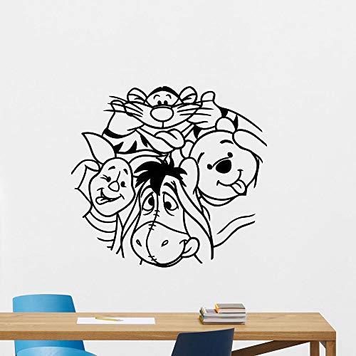 Winnie l'ourson sticker mural pour enfants chambre garçons Winnie l'ourson Firendship maison autocollant chambre d'enfant décoration ensemble