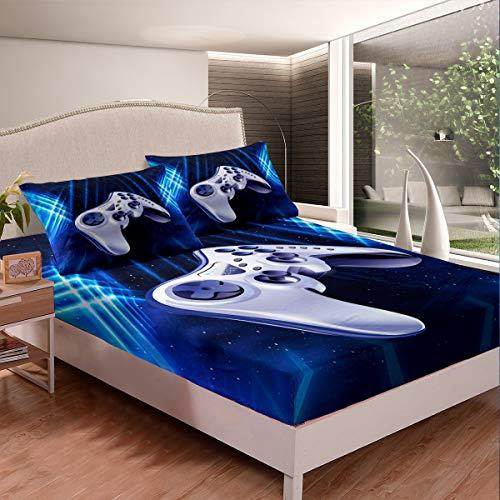 Juego de ropa de cama para niños y niñas, juego de sábanas de videojuegos, juego de sábanas moderno y moderno, para decoración de habitación, 2 unidades, tamaño individual