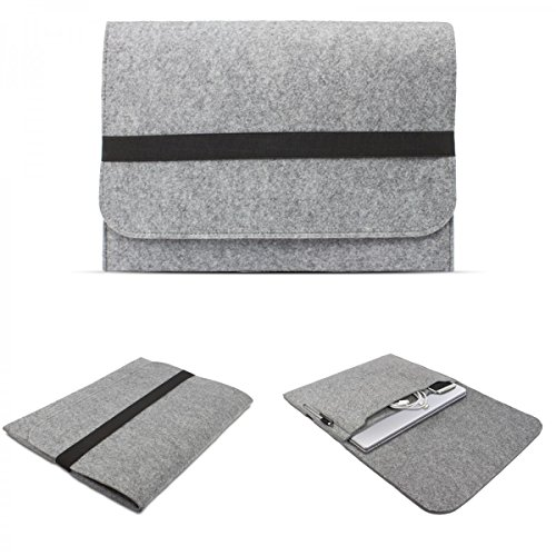 eFabrik Sleeve Cover für Lenovo ThinkPad Yoga 12,5 Zoll (31,8 cm) Notebook Hülle Ultrabook Laptop Cover Hülle Filz, Farbe:Hell Grau