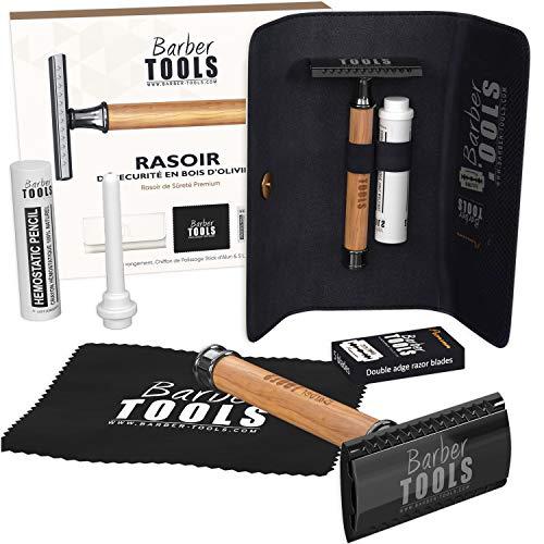 Barber Tools - Maquinilla de afeitar de seguridad, 5 cuchillas dobles y...