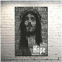 Rzhss イエス・キリストの動機付けのアートポスター壁の装飾のための写真を印刷するキャンバスに印刷する-50X70Cmフレームなし