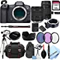 Canon EOS R5 Mirrorless Digital Camera with 24-105mm f/4-7.1 Lens Bundle + 75-300mm F/4-5.6 III Lens + 128GB Memory + Case + Filters + Tripod (26pc Bundle) by Al's Variety-Canon Intl.