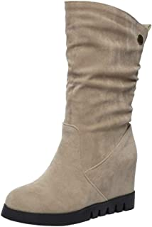 Lydee Mujer Casual Botas Slouch Slip On