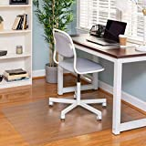 Ilyapa Hardwood Chair Mat 30' x 48' Heavy Duty Clear PVC Office Chair Mat for Hardwood and Tile Floors, Protective Floor Mat for Home or Office