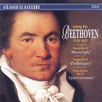 "Beethoven: Sonata No. 14 ""Moonlight"", Sonata No. 8 ""Pathetique"",  Piano Sonata No. 23 ""Appassionata"""