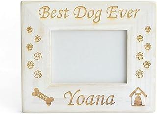 WNGGADH Cadre photo personnalisable pour chien - Cadeau commémoratif pour la perte de chien