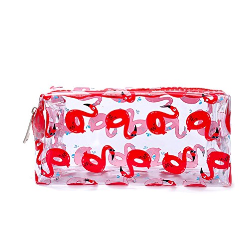 MoGist Trousse de Toilette Sac de Rangement Imperméable Sac de Voyage Maquillage Transparent Sac à Main Étanche Rectangulaire Stockage Pinceau de Maquillage PVC Couleur 3 19 * 9cm
