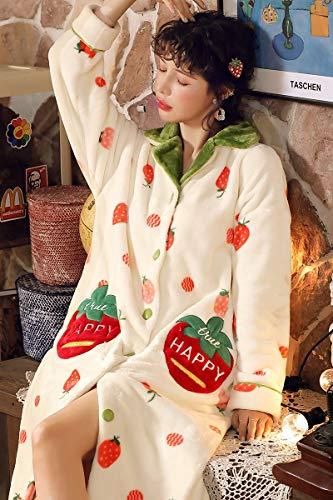 Bayue damesblouse met diermotieven, schattig, flanel, lange mouwen, warm, fluweel, koraal, blouse, dames, herfst, winter, dikke blouse