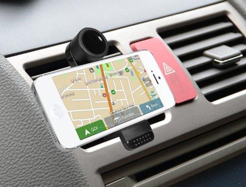 Quick media - Soporte universal de rejilla de ventilación coche para smartphone / móvil: Amazon.es: Informática