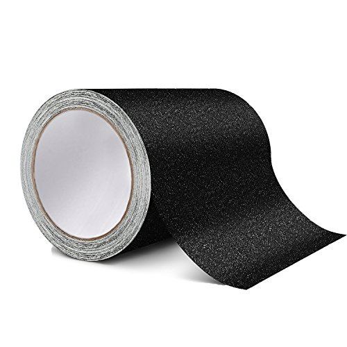 Anti Slip Tape Clear Safety Track Tape Skid Tape Roll High Traction Strong Grip Abrasive Residue Free Adhesive 25MM Width x 5M Long, Clear