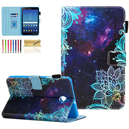 Galaxy Tab A 8.0 2018 Case, SM-T387 Case, Dteck Slim Premium Leather Folio Stand Cover with Card Holder/Photo Slot for Samsung Galaxy Tab A 8 inch 2018 Release T387 Tablet, Galaxy Flower