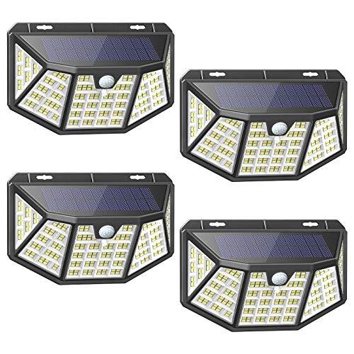 Luz Solar Exterior 212 LED Foco Solar Exterior Impermeable con Sensor de Movimiento y 270°...