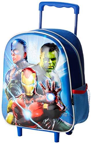 Cerdá Avengers, Mochila con Ruedas Infantil 3D de The Avangers - Licencia Oficial Marvel Studios Unisex niños, Multicolor, 260X310X100MM