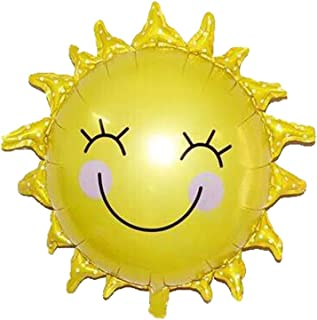 """Smiley-face Sun Balloon, 26"""" Foil Mylar Helium Balloon, Pack of 5"""