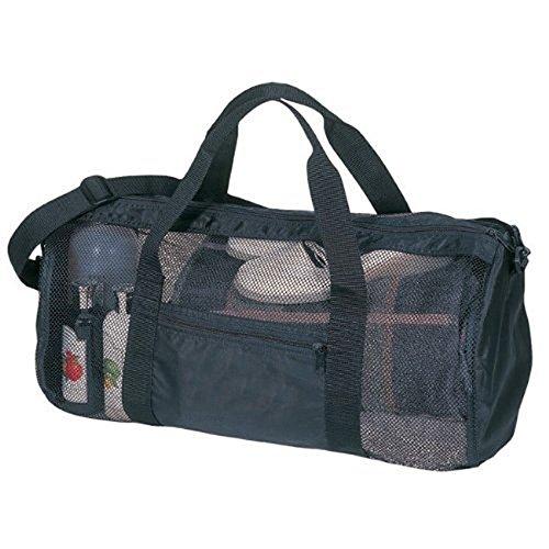 SDI 636391901048 Sport Gym Mesh Roll Bag, Black