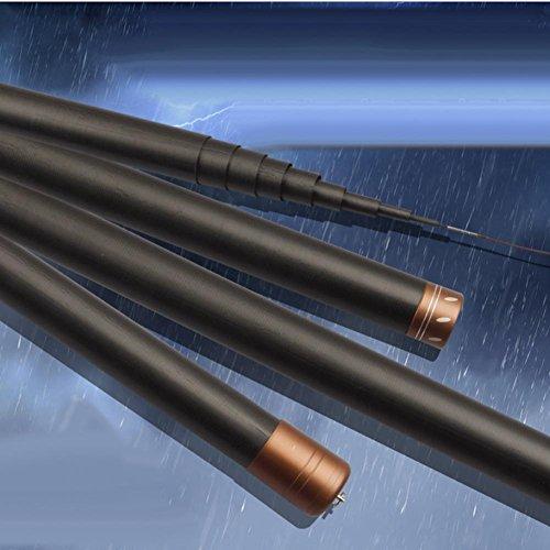 Q&M Zwart Telescopische Draagbare Lange Paal Ultra-licht Vissersstaven 8-15 meter-High-carbon Travel Spinning Vissen Staven Zoetwater en Zoutwater