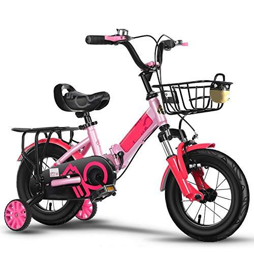 YumEIGE kinderfiets kinderfiets opvouwbaar 12 14 16 18 20 inch, meisjesfiets High Carbon frame, fiets kind 2-15 jaar leeftijd jongen en meisjes cadeau 4 kleuren