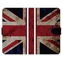 ブレインズ AQUOS sense5G SH-53A SHG03 手帳型 ケース カバー 国旗 イギリス グランジ ヴィンテージ 人気