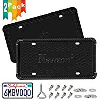 2-Pack Newzon Silicone License Plate Frame