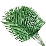 12 unids plantas de palma artificial hojas hojas de imitación plantas artificiales vegetación falso falso tropical grande palmera hojas para el hogar decoraciones de la boda del partido
