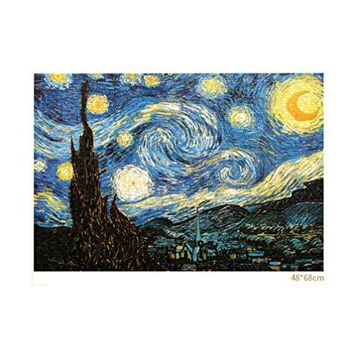 TOYANDONA 1000 Piezas de Rompecabezas para Adultos, Rompecabezas de Noche Estrellada Rompecabezas de Van Gogh Rompecabezas de Pintura Al Óleo para Niños Adultos (Colorido)