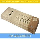 20 Sacchetto per aspirapolvere adatto VORWERK FOLLETTO 118 119 120 121 122 Sacchetti Filtro