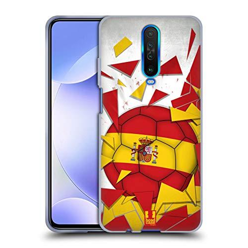 Head Case Designs España Saltos de Fútbol Carcasa de Gel de Silicona Compatible con Xiaomi Redmi K30 / 5G