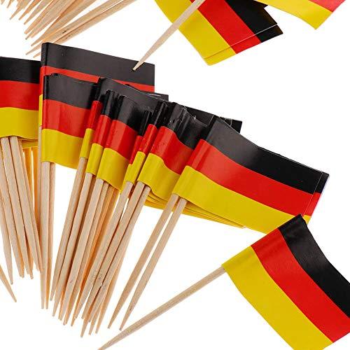 Beito Mini Flag zahnstocher 100 stücke Deutschland Flagge Kuchen Auswahl internationalen veranstaltungen Cocktail Stick Flag Obst Lebensmittel Pick