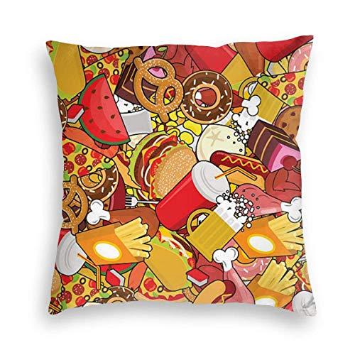 N\A El ladrón de Fresas de William Morris, Funda de Almohada Cuadrada teñida Suave de Terciopelo, Funda de cojín para sofá, Dormitorio y Coche