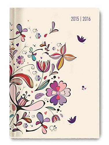 Collegetimer Flower Art 2015/2016 - Schülerkalender A5 - Weekly - 224 Seiten