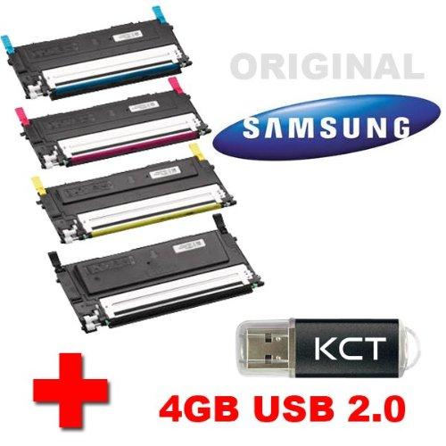 Samsung CLX 3175 Original Tonerkit CLT-P4092C (CLT-P4092C/ELS) + 4GB KCT USB-Stick USB 2.0