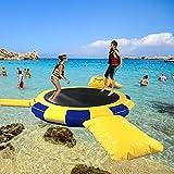 FHW TrampolíN De Agua Inflable, CojíN De Salpicaduras Que Rebota, TrampolíN De Agua Plano para Nadar, Utilizado para La Plataforma De Salto De Deportes AcuáTicos, Material De PVC,A