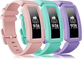 findway Compatible with Fitbit Ace 2 Bands for Kids 6+, Soft Silicone Bracelet Accessories Sport Strap Boys Girls Wristban...