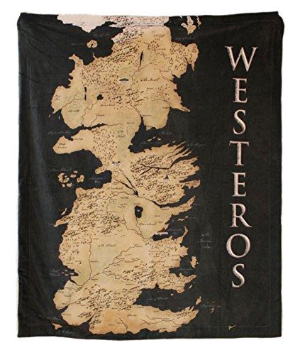 Half Moon Bay Game of Thrones THROGT02 125 (w) x 150 (h) cm Coperta - Mappa di Westeros