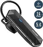 Mpow EM18 Bluetooth-Headsets, V5.0 Bluetooth Headset Handy, Dual-Mik+ cVc8.0 Rauschunterdrückung, Handy Headset mit 24H Spielzeitfür für Handys/Telefon /Tablet, usw, Business In-Ohr Headset