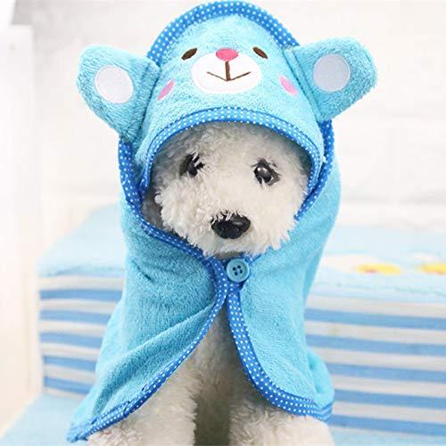 Suave mascota perros gato toalla de ducha lindo animal de dibujos animados albornoz toalla de baño manta para peluche perros pequeños cachorro lavado accesorios