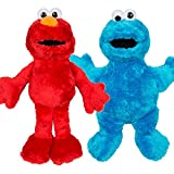 Official Sesame Street Large Elmo y Cookie Monster Soft Plush Toys 38cm