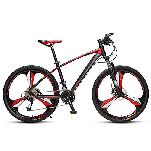 Unbekannt Mountain Bikes, Aluminium 33 Geschwindigkeit Mountainbike, Hardtail Mountainbike Mit Doppelscheibenbremse, Pendler Bike,3 Spoke Black,27.5in