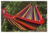 NGLQWA Hamaca De Doble Hamaca Al Aire Libre para El Patio De La Villa/Piso Plano Grande, Área De Ocio, Casa Popular Capacidad De Carga 350 Kg (Color : Rainbow Stripes)
